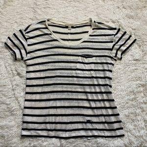 Burberry Linen Striped T- Shirt